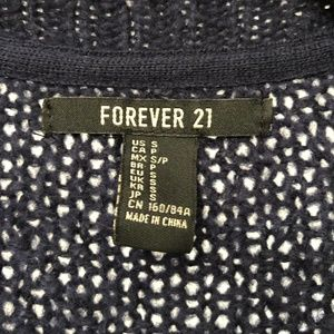 Forever 21 Sweaters - Forever 21 navy cable stitch cardigan